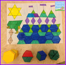 fraction operation review project fractions pattern blocks and