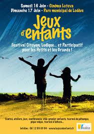 poster pour enfant festival jeux d u0027enfants les 16 et 17 juin à lodève jeux d u0027enfants