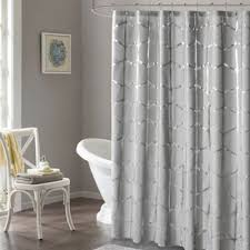 Grey Metallic Curtains Buy Grey Metallic Shower Curtains From Bed Bath Beyond