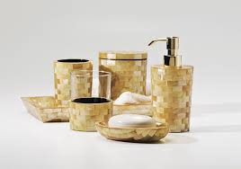 Yellow Accessories For Bathroom by Awesome Gold Accessories For Chic Bathroom Bath Accessory Sets