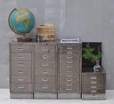 Retro Filing Cabinet Vintage Industrial Steel Filing Cabinet 10 Drawer Home Barn Vintage