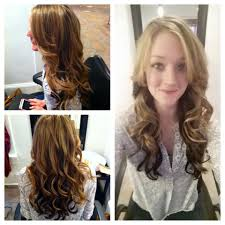 hair color dark on top light on bottom dark brown underneath and golden blonde highlights on top with