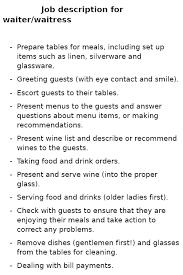 Waiter Job Resume by Doc 7421024 Waitress Resumes Free Server Resume Example Server