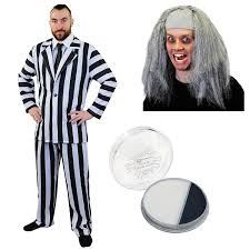 black suit halloween striped suit halloween fancy dress costume black u0026 white stripe