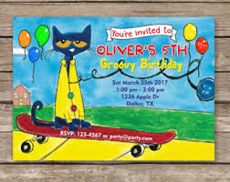 theme invitations cat invitation etsy