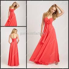 sales bridesmaid dresses sweetheart neckline a line coral