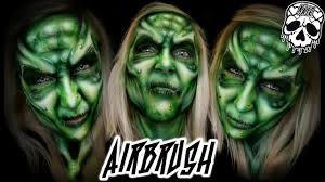 airbrush makeup for halloween airbrush witch halloween face paint misskatemonroe co uk youtube