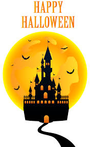 happy halloween with castle png clip art image gallery