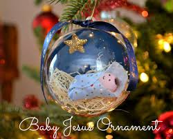 baby jesus ornament will be meaningful and fun making this