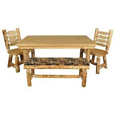 rustic pine log dining table minnesota pine log dining room