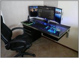 Gaming Desk Ideas Valuable Ideas Pc Desks Home Design Ideas For Computer Gaming
