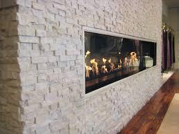 white stacked stone fireplace binhminh decoration