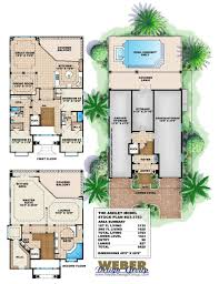floor plans for narrow lots apartments three story house plans three story beach house plans