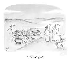 two shepherds with conventional sheep look by paul noth