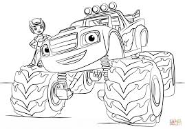 blaze monster truck coloring page for coloring pages itgod me