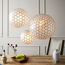 Capiz Light Pendant Capiz Orb Pendants West Elm