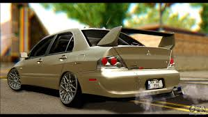 mitsubishi jdm mitsubishi lancer evolution ix jdm for gta san andreas