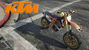 ktm sxf 450 gta v bike mods youtube