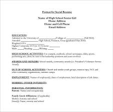 Senior Resume Template High Resume Template 9 Free Word Excel Pdf Format