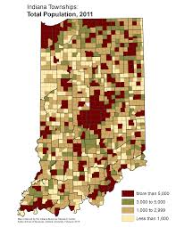 Indiana University Map Www Stats Indiana Edu Maptools Maps Thematic Population E2011