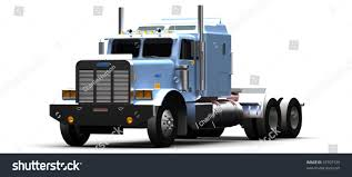 big rig semi truck isolated on stock illustration 35707339