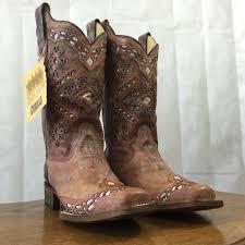 corral women u0027s brown glitter square toe cowgirl boots a3120