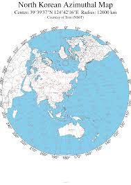 Azimuthal Map Large 12 000 Km Range North Korean Map Imgur