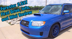 blue subaru forester 2003 forester 2 5xt first drive and impressions youtube
