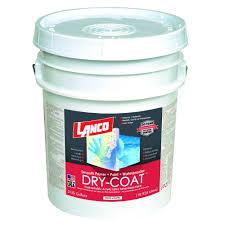 lanco dry coat 5 gal white and pastel semi gloss acrylic latex
