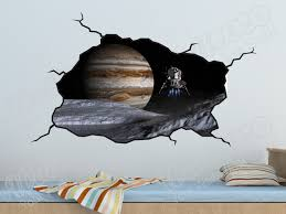 Space Room Decor Outer Space Planet And Space Craft Nasa Wall Decal Boys Bedroom