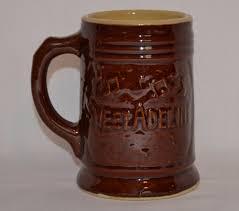 antique sweet adeline brown stoneware pottery beer mug 1930 u0027s