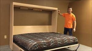 Murphy Sofa Bed by Horizontal Templeton Murphy Bed With Sofa Youtube
