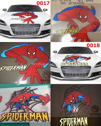 large hero spiderman engine hood spare tire cover car stickers it s easily removable at any time and it is acid free