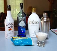 coconut dream pie one shot of malibu and rum chata and two