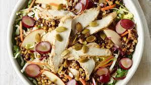 panera bread ancient grain u0026 arugula salad with chicken calories