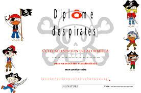 cuisine pirate diplôme de à imprimer cuisine déco by