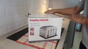 Morphy Richards Accent Toaster Red Unboxing Morphy Richards Accents 4 Slice Toaster Youtube