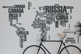 World Map Wall Poster by Word Cloud World Map World Maps Poster Customaps
