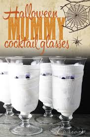 halloween mummy cocktail glasses curioblog halloween mummy