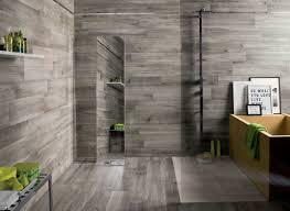 bathroom luxury bathroom wood accent wall modern light grey
