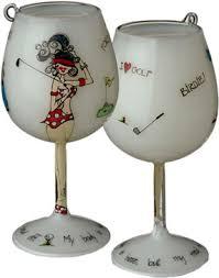 bottoms up mini wine glass ornaments hula island
