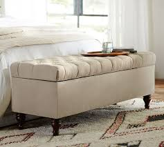 Storage Bench Furniture Wooden Ottoman With Storage Tufted Storage Bench