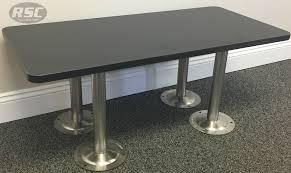 ada phenolic locker room bench with 304 stainless steel pedestals