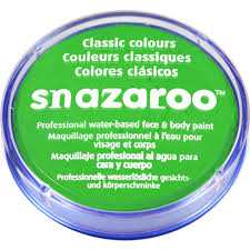 Snazaroo Light Grey Snazaroo Lime Green Face Paint 18ml Delights Direct