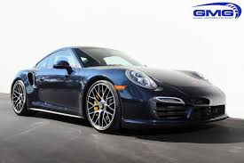 Porsche 991 Turbo S Dark Blue Metallic W Gmg Lowering Springs