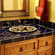 Mexican Tile Bathroom Ideas Colors Authentic Talavera Tile Bathroom Vanity Bathroom Design Ideas