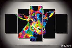 chambre de d馗ompression hd imprimé coloré girafe peinture impression sur toile chambre décor