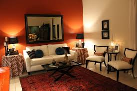 Orange Living Room Decor Burnt Orange Living Room Decor Solemio