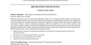 Sample Resume Of Hr Recruiter Unbelievable Army Resume 14 Army Recruiter Resume Sample Resumes