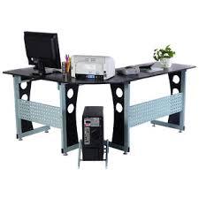 Corner Computer Table Goplus Wood L Shape Corner Computer Desk Pc Table Workstation Home